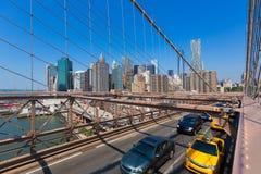 Brooklyn Bridge and Manhattan New York City US Royalty Free Stock Photo