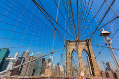 Brooklyn Bridge and Manhattan New York City US Royalty Free Stock Image