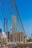Brooklyn Bridge and Manhattan New York City US Stock Photos