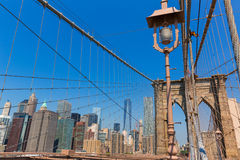 Brooklyn Bridge and Manhattan New York City US Royalty Free Stock Images