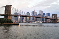 Brooklyn Bridge in Manhattan New York Royalty Free Stock Images