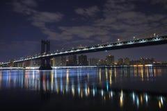 Brooklyn Bridge . Manhattan. New York. United States of America. Brooklyn Bridge in New York. Photo was shot from Brooklyn's side Royalty Free Stock Photo