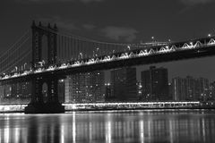 Brooklyn Bridge . Manhattan. New York. United States of America. Brooklyn Bridge in New York. Photo was shot from Brooklyn's side stock photo