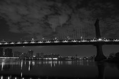 Brooklyn Bridge . Manhattan. New York. United States of America. Brooklyn Bridge in New York. Photo was shot from Brooklyn's side stock image