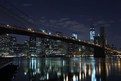 Brooklyn Bridge . Manhattan. New York. United States of America. Brooklyn Bridge in New York. Photo was shot from Brooklyn's side stock photos