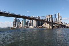 Brooklyn Bridge and Manhattan. New York, USA Stock Image