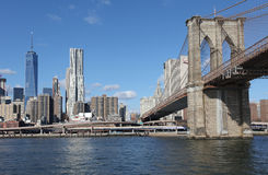 Brooklyn Bridge and Manhattan. New York, USA Royalty Free Stock Image