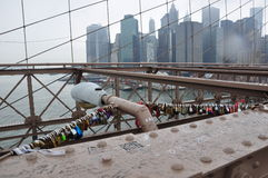 Brooklyn bridge Manhattan, New York Royalty Free Stock Image
