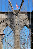 Brooklyn Bridge in Manhattan over Hudson River. Royalty Free Stock Photography