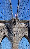 Brooklyn Bridge in Manhattan over Hudson River. Stock Photography