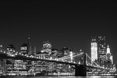 Brooklyn Bridge and Manhattan Skyline royalty free stock photography