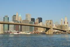 Brooklyn bridge and Manhattan skyline. New York Stock Images