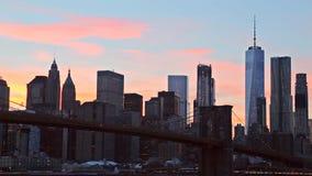 The Brooklyn Bridge and Manhattan Skyline from , New York. The Brooklyn Bridge and Manhattan Skyline from Brooklyn, New York stock video