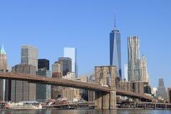 Brooklyn Bridge and Manhattan Skyline Royalty Free Stock Photo