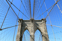Brooklyn Bridge and Manhattan Skyline Royalty Free Stock Photo