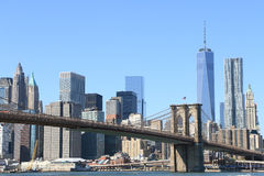 Brooklyn Bridge and Manhattan Skyline Royalty Free Stock Image