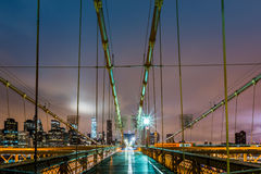 Brooklyn Bridge and the Manhattan skyline Royalty Free Stock Photography