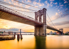 Brooklyn Bridge in the Morning. Stock Photography