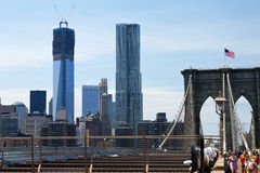 Brooklyn Bridge and New World Trade Center Stock Photography