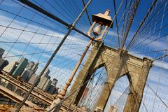 Brooklyn bridge in New York Stock Images