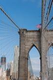 The Brooklyn Bridge in New-York Stock Image