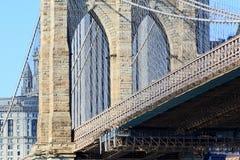 The Brooklyn bridge in New York stock photos