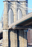 The Brooklyn bridge in New York stock images