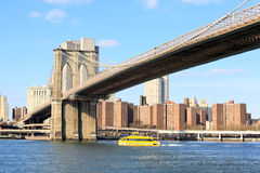 The Brooklyn bridge in New York Royalty Free Stock Photos