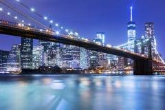 Brooklyn Bridge in New York, Amerika Stock Photos