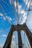 The brooklyn bridge in new york on bright summer Stock Photo