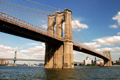 Brooklyn bridge in New York City Stock Photos