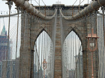 The Brooklyn Bridge in New York City Stock Images