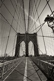 Brooklyn Bridge in New York city stock photos