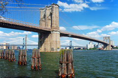 Brooklyn bridge in New York City Royalty Free Stock Image