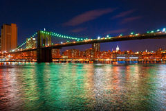 Brooklyn bridge, New York City. Royalty Free Stock Photography