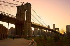 Brooklyn bridge, New York City. Stock Photos