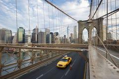 On the Brooklyn Bridge. Stock Photography