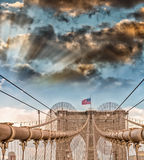 The Brooklyn Bridge, New York City Royalty Free Stock Photography