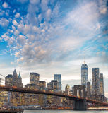 The Brooklyn Bridge, New York City Royalty Free Stock Photo