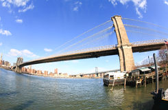 The Brooklyn bridge in New York City Royalty Free Stock Images