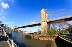 The Brooklyn bridge in New York City Royalty Free Stock Image