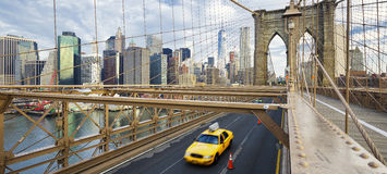 On the Brooklyn Bridge. Royalty Free Stock Images