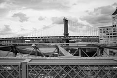 Brooklyn Bridge. In New York City royalty free stock photos
