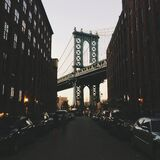 Brooklyn Bridge in New York city Stock Photography