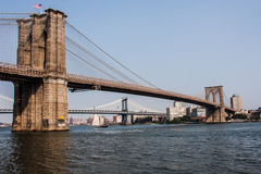 Brooklyn Bridge at New York City. Detail from the Brooklyn Bridge at New York City Royalty Free Stock Image