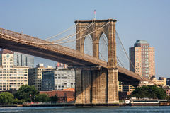 Brooklyn Bridge at New York City. Detail from the Brooklyn Bridge at New York City Royalty Free Stock Photography