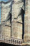 Brooklyn bridge in New York City detailed view Royalty Free Stock Photo