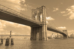 Brooklyn Bridge, New York City Stock Image