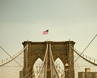 Brooklyn Bridge, New York City famous Landmark Stock Photography