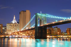 Brooklyn Bridge in New York City Manhattan Royalty Free Stock Photography